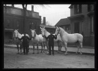 Firemen and their horses, Portland, ca. 1920