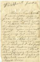 Sarah Tibbetts to John Tibbetts with news of home, Westport Island, 1895