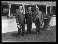 Governor Fuller and the Ricker Brothers, Poland Spring, 1925