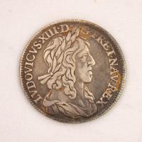 French 1/4 Ecu coin, Louis XIII, Castine, 1642