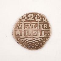 Potosi (Bolivian) Two Reales Cob coin, Castine, ca. 1715