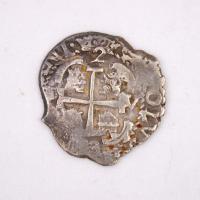 Potosi (Bolivian) Two Reales Cob coin, Castine, ca. 1738
