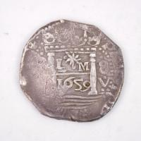 Peruvian Eight Reales Cob Coin, Castine, 1659
