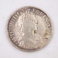 French ecu coin, Louis XIII, Castine, 1652