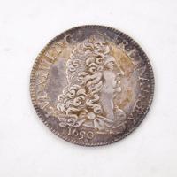 French 1/2 Ecu coin, Louis XIV, Castine, 1690