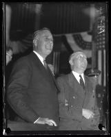 Franklin D. Roosevelt and Louis J. Brann, Portland, 1932