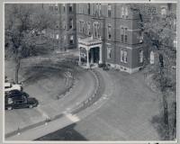 Main entrance to Maine General Hospital, Portland, ca. 1960