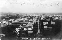 Franklin Avenue from Reservoir Hill, Houlton, 1908