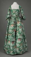 Revolutionary War-era styled gown, Portland, ca. 1825