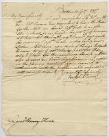 Joseph Peirce letter to Henry Knox, August 17, 1797