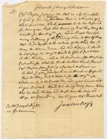 Jonathan Bayley letter to Joseph Hights, 1770