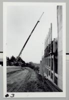 Crane on construction site of Maine Medical Center parking garage, Portland, ca. 1971