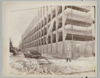 Construction of Maine Medical Center parking garage, Portland, 1972