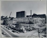 Beginning of parking garage construction at Maine Medical Center, Portland, 1971