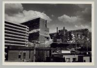 Construction of the L.L. Bean building at Maine Medical Center, Portland, 1984