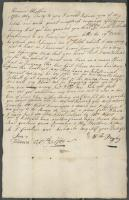 Letter from William Bayley to mother, October 23, 1780