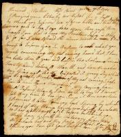 William Bayley letter to mother, October 7, 1781