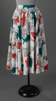 Printed circle skirt, ca. 1955