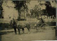 Charles and Julia West, Houlton, ca. 1880