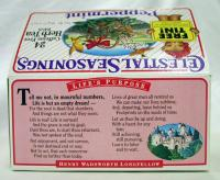 Poem on box of tea, 1995