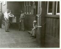 Black Guard soldiers at the station, Morkill, ca. 1943