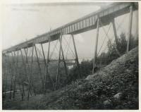 Soldiers on watch at Onawa Trestle, Morkill, ca. 1942