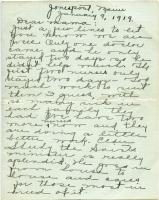 Letter during influenza pandemic to Annie Cromwell Blake from daughter Alice, Jonesport, 1919