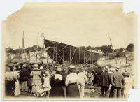 Launching of the schooner Charles B. Wiggin, Kennebunk, 1917