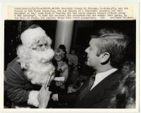 Governor Brennan and Santa Claus, Augusta, 1979