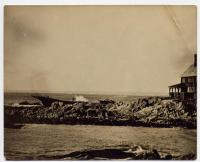Wreck of the schooner Empress, Kennebunkport, 1891