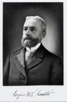 Cyrus H. K. Curtis, photo with signature