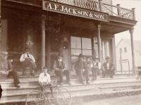 A.F. Jackson & Son store, Monson, ca. 1900