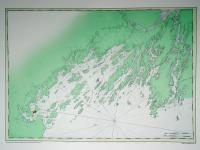 Chart of Casco Bay from the Atlantic Neptune