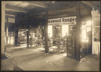 Range department, Atherton Furniture, Waterville, ca. 1900