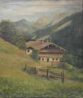 Painting by prisoner of war, Camp Houlton, 1945