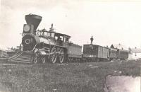 New Brunswick and Canada Railroad steam engine.