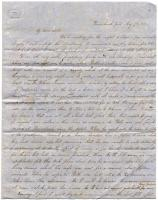 Letter from Lydia Patterson to sister, Mary, May 7, 1850