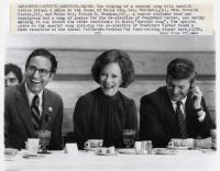 Democrats share laugh, Lewiston, 1980