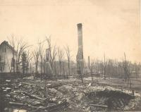 Southeast view, Great Fire of Houlton, 1902