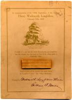 Longfellow Centennial Commemorative Card, ca. 1907