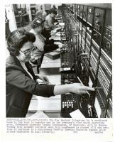 Last telephone cordboard, Bath, 1982