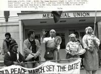 Peace marchers, Orono, 1982