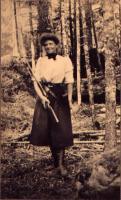 Daisy R. Parson, Maine woods, 1900