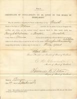 Certificate of non-liability for Civil War, Houlton, 1863