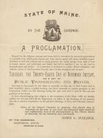 Thanksgiving proclamation, 1889