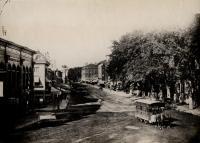 Monument Square and Congress Street, Portland, ca. 1875