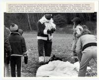 Santa parachutes in, Waterville, 1982