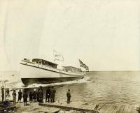 Launch of the Amagansett, Rockland, 1912