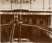 Welcome sign, Kittery Navy Yard, c. 1898