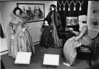 Four dresses, ca. 1840s